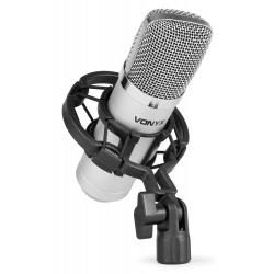 Mikrofon pojemnościowy Vonyx CM400 studyjny do występów na żywo phantom