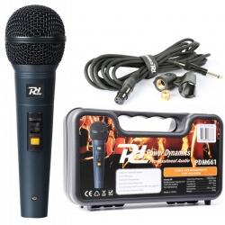 Mikrofon dynamiczny Power Dynamics PDM661 kabel 5m uchwyt adapter w walizce
