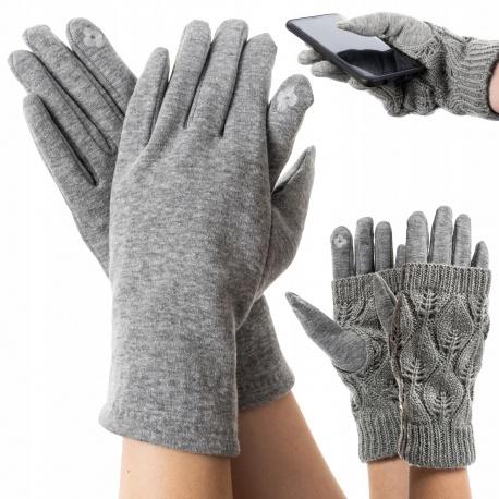 Ciepłe rękawiczki z ocieplaczem dotykowe do smartfona obsługa dotykowych ekranów