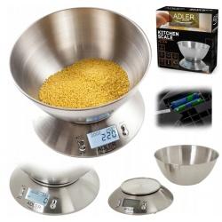 Waga kuchenna z misą Adler AD 3134 elektroniczna duża misa minutnik kuchenny alarm
