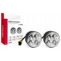 Światła do jazdy dziennej AMiO DRL 510HP LED homologacje E4 oraz RL00