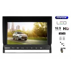 Monitor samochodowy LCD 9 cali do kamer cofania 2x wejście video 4PinQuad
