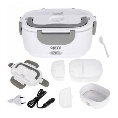 Pojemnik na żywność ciepłe jedzenie LUNCH BOX elektryczny podgrzewacz TERMOS 230 i 12V Camry CR 4483
