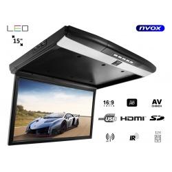 Monitor podwieszany podsufitowy ekran 15 cali LED SUPER CIENKI FHD HDMI USB SD