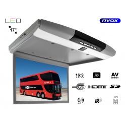 Monitor podsufitowy ekran 17 LED SUPER CIENKI odtwarzacz USB SD FHD HDMI