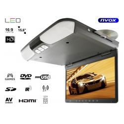Monitor podwieszany 15,6 cali LED HD odtwarzacz DVD SD USB transmiter FM IR HDMI