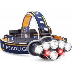 Latarka czołowa czołówka 7 LED Cree T6 mocne światło na akumulatory USB 5600lm