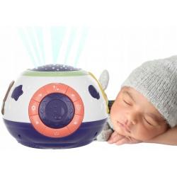 Lampka nocna projektor gwiazd kołysanki dla dzieci do dziecięcego pokoju pozytywka