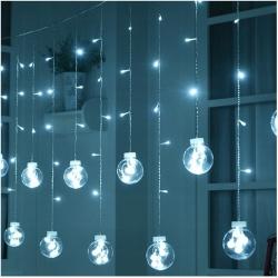 Kurtyna LED 108 lampek wiszące kule lampki choinkowe biały kolorowe