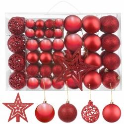 Bombki choinkowe 100 sztuk 3 4 6 cm gwiazda na czubek choinkę złote czerwone
