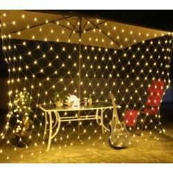 Świecąca siatka na drzewka taras lampki choinkowe LED 2 x 2,6m 160 lampek