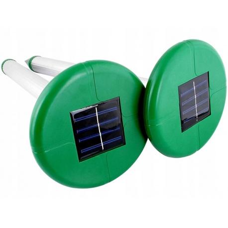 Wbijany w ziemię solarny odstraszacz kretów gryzoni nornic 2 sztuki
