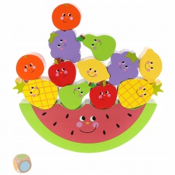 Gra zręcznościowa dla dzieci balansujące owoce do układania drewniana arbuz