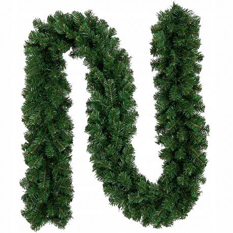 Girlanda sztuczna zielona 280cm ozdoba choinkowa łańcuch na poręcz choinkę