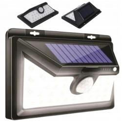 Lampa solarna ścienna boczne diody świeci na bok 32 LED czujnik ruchu zmierzchu