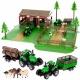 Duża farma zagroda zwierzątka traktor przyczepa do zabawy pojazdy rolnicze