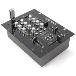 Mikser 2-kanałowy Skytec STM-2300 podsłuch na słuchawkach korektor