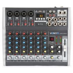 Mikser dyskotekowy 8 kanałowy Vonyx VMM-K802 - DSP 6 wejść mono 2 stereo