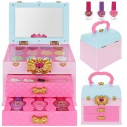 Zestaw do makijażu malowania paznokci zabawkowy w kuferku piękności XL