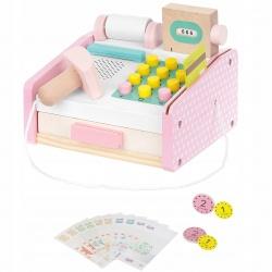 Zabawkowa kasa fiskalna sklepowa z akcesoriami dla dzieci drewniana