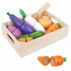 Drewniane warzywa do krojenia na rzep nożyk dla dzieci w skrzynce