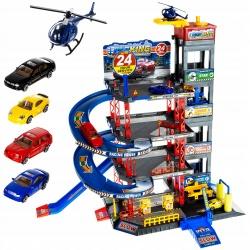 Garaż piętrowy parking do zabawy autka helikopter myjnia XXL samochodziki