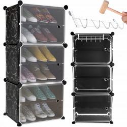 Półka na obuwie poziomowa szafka zamykana modułowa organizer regał