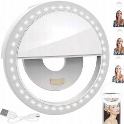 Lampa pierścieniowa do selfie i zdjęć twarzy do telefonu 28 LED Selfie Ring