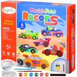 Magnesy zestaw do robienia magnesów na lodówkę DIY autka zrób to sam