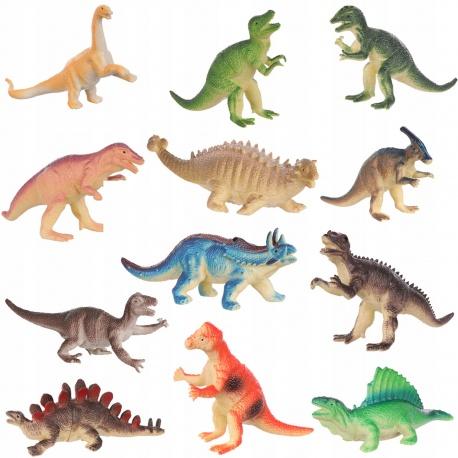 Dinozaury figurki do zabawy park duży zestaw dinozaurów zwierząt 12 sztuk