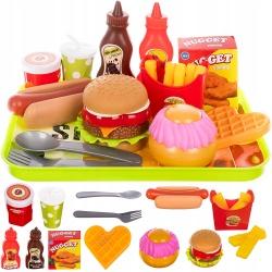Sztuczne jedzenie żywność Fast Food frytki burger Hot-Dog artykuły dla dzieci