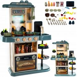 Kuchnia dla dzieci zabawkowa okap kuchenny kran naczynia sztućce XXL