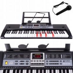 Organy duże lekcje gry do nauki keyboard 61 klawiszy z mikrofonem tonacje piosenki