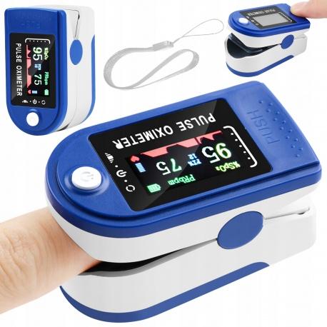 Pulsoksymetr przenośny napalcowy medyczny pulsometr tętno Oximeter na baterie