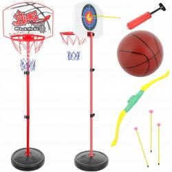 Zestaw do koszykówki tablica obręcz piłka 2w1 strzelnica łuk bełty koszykówka