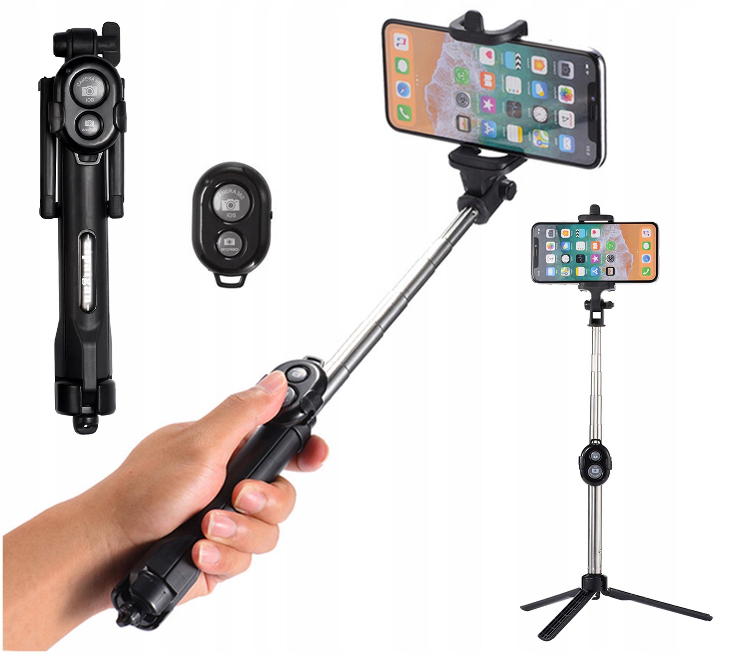 Monopod Kijek Patyk Stick Uchwyt Na Smartfon Do Zdjęć Selfie 3w1 Statyw Pilot