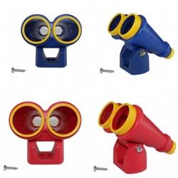 Lornetka dla dzieci do montażu na plac zabaw regulowana duża plastikowa