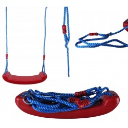 Huśtawka plastikowa płaska deska mocna na linach na place zabaw 3 kolory
