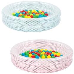Basen z piłeczkami dla dziecka 50 piłeczek 91 x 20 cm Bestway 51141 w kropki