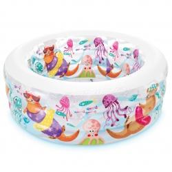 Basen dmuchany dla dzieci akwarium pompowane dno 152 x 56cm INTEX 58480