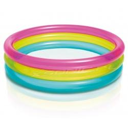 Basen dmuchany Tęcza 3 pierścienie 86 x 25 cm INTEX 57104 brodzik dla dzieci