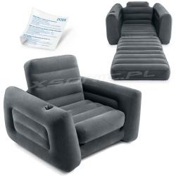Dmuchany fotel 2w1 łóżko rozkładane 224 x 117 x 66 cm jednoosobowy 66551 INTEX