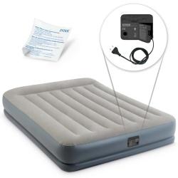 Materac welurowy Pillow Rest z wbudowaną pompką 152 x 203 x 30 cm INTEX 64118