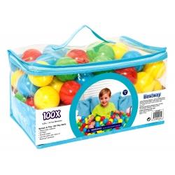 Piłeczki plastikowe 100 sztuk do placu zabaw lub brodzika kolorowe Bestway 52027