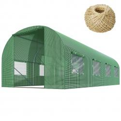 Szklarnia ogrodowa Plonos mocny tunel foliowy z oknami 400 x 250 x 200 cm 10m2