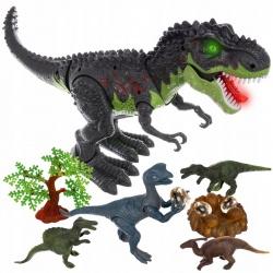 Dinozaur zabawka dla dzieci gniazdo T-Rex chodzi ryczy świeci znosi jaja