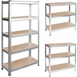 Metalowy regał magazynowy 150 x 75 x 30 cm obciążenie do 400 kg 5 półek