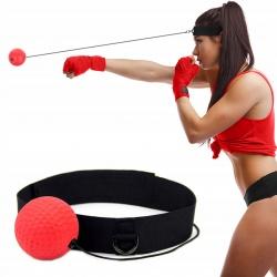 Piłka z pianki refleksowa bokserska do ćwiczeń refleksu zakładana na głowę