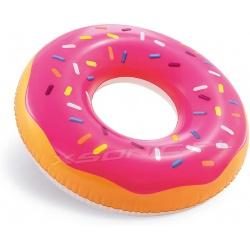 Duże dmuchane koło do pływania Donut różowy pączek 99 cm INTEX 56256