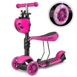 Hulajnoga trójkołowa balansowa dla dzieci skrętna rowerek biegowy 2w1 LED